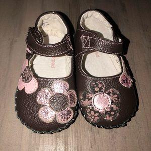 PediPed Infant Flex Abigail Shoe - Chocolate Brown